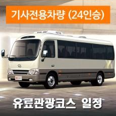 24인승차량 + 전용기사 - 유료관광지 일정