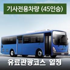 45인승차량 + 전용기사 - 유료관광지 일정